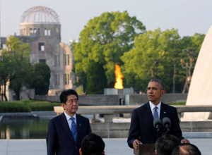 abe-obama at hiroshima